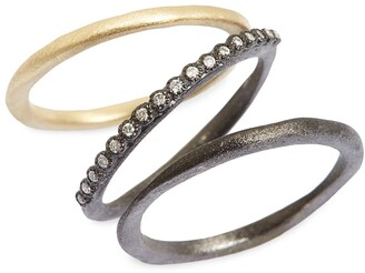 Armenta Old World Diamond Stacking Rings