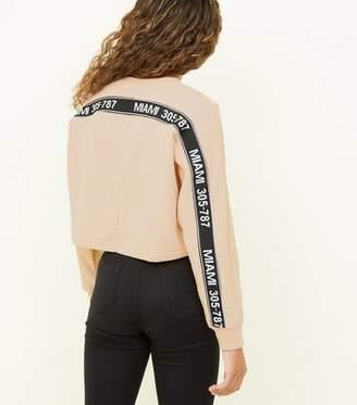 New Look Girls Camel Miami Tape Back Sweatshirt