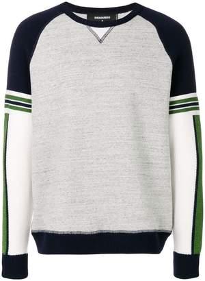 DSQUARED2 two-tone logo sweatshirt