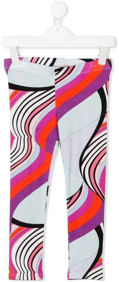 Emilio Pucci Junior printed leggings