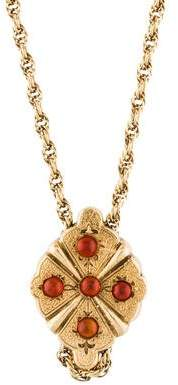 14K Carnelian Pendant Necklace