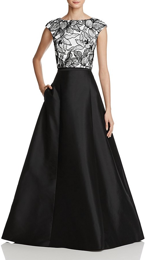 AQUA Lace-Bodice Two-Piece Gown - 100% Exclusive