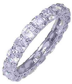 Diamonique Asscher Cut 4.90 cttw Eternity Ring,