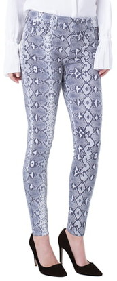 Liverpool Gia Glider Snake Print Pull-On Knit Pants