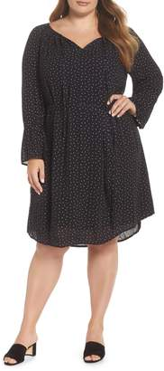 Lucky Brand Printed Bell Sleeve Dress