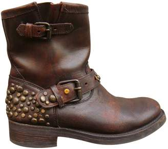 Ash Leather strap boots
