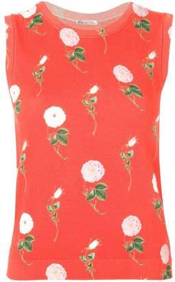 Oscar de la Renta floral patterned top