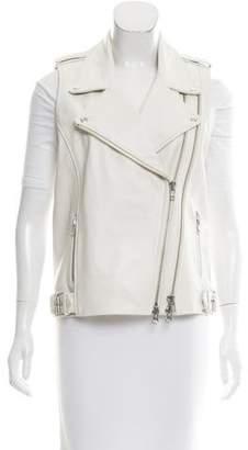 Mason Leather Moto Vest