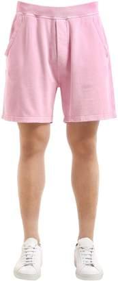 DSQUARED2 Oversized Cotton Jersey Sweat Shorts