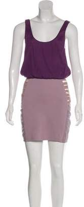 Alice + Olivia Silk-Blend Mini Dress