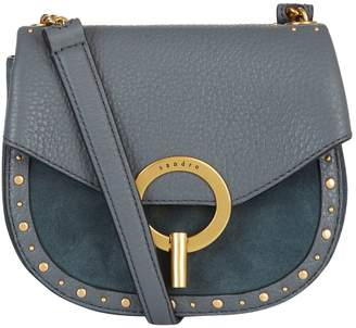 Sandro Leather-Suede Cross Body Bag