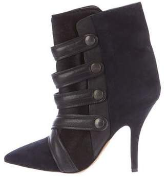 Isabel Marant Suede Pointed-Toe Ankle Boots