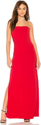 Halston Strapless Ruched Side Dress