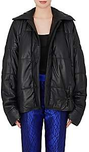 Haider Ackermann Women's Quilted Leather Puffer Coat - Black