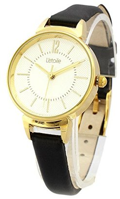 L'etoile レトワール FV07 ラウンドケース シンプル ウォッチ レザーベルト レディース 女性用 腕時計