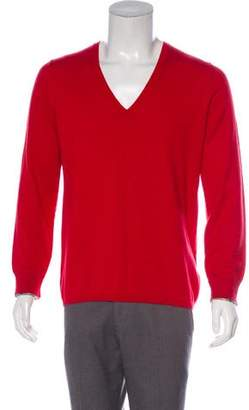 Burberry Nova Check-Trimmed Cashmere-Blend Sweater