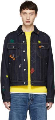 Acne Studios Blue Bla Konst Denim Gum Tent Jacket