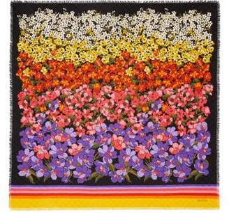 Gucci Degradé flowers print wool shawl