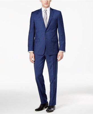 Calvin Klein Men's Extra-Slim Fit Blue Suit $650 thestylecure.com