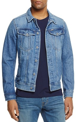 G-STAR RAW Denim Jacket in Light Aged $180 thestylecure.com