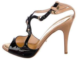 Jerome C. Rousseau Patent Leather Caged Sandals
