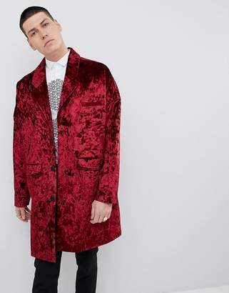 Noose & Monkey Duster Coat In Velvet