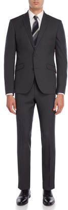 Kenneth Cole Reaction Two-Piece Black Pindot Suit