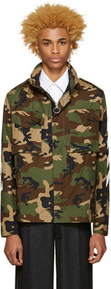 Off-White Green Camouflage M65 Jacket $1,225 thestylecure.com