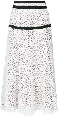 Just Cavalli broiderie anglaise maxi skirt