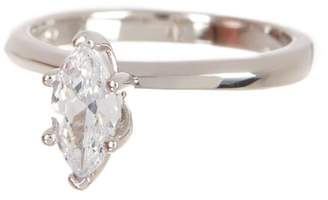 Argentovivo Sterling Silver Marquise CZ Solitaire Engagement Ring