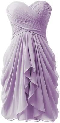 KissBridal Women's Cute Chiffon Homecoming Dresses Knee Length