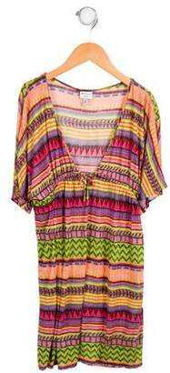Milly Minis Girls' Printed Swim Cover-Up