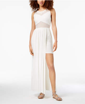 Material Girl Juniors' Crochet-Bodice Maxi Dress, Created for Macy's