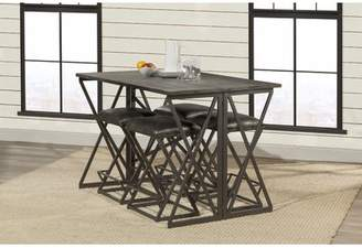 Union Rustic Osterberg 5 Piece Counter Height Breakfast Nook Dining Set