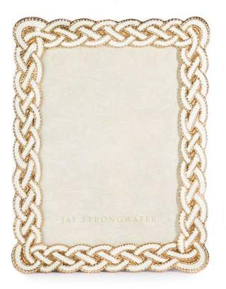 "Jay Strongwater Cream Braided Picture Frame, 5"" x 7"""