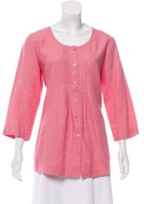 Eileen Fisher Linen Long Sleeve Top