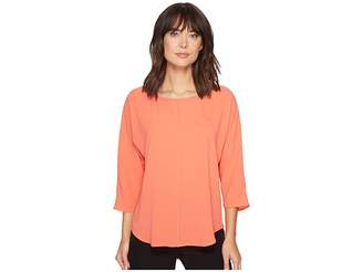 Vince Camuto Elbow Sleeve Chiffon Seam Blouse Women's Blouse