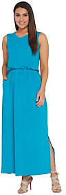 Joan Rivers Classics Collection Joan Rivers Petite Length Sleeveless V-NeckJersey Maxi