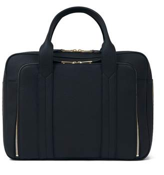 Volition Tyler - Leather Overnight Bag Navy
