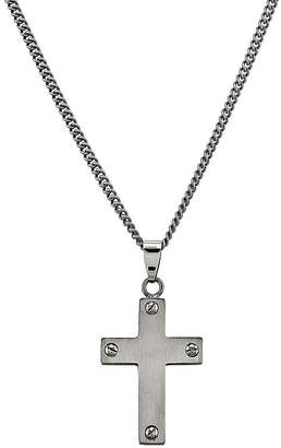 FINE JEWELRY Mens Titanium Cross Pendant