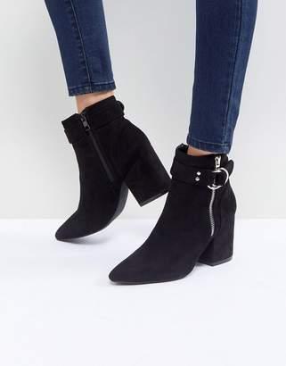 Raid RAID Audra Black Heeled Ankle Boots