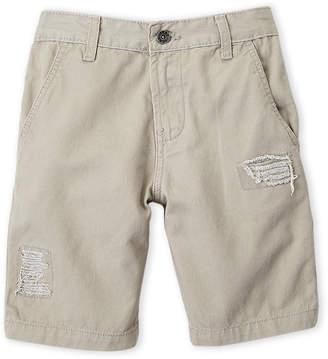 DKNY Boys 8-20) Twill Distressed Shorts