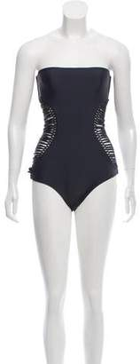 Mikoh Strapless Cutout Swimsuit w/ Tags