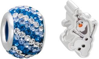 Disney Disney's Frozen Crystal Sterling Silver Olaf Bead Set