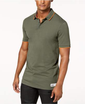 Armani Exchange Men's Camo-Detail Slim Fit Polo