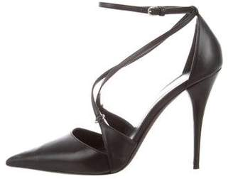 Narciso Rodriguez Leather Pointed-Toe Pumps