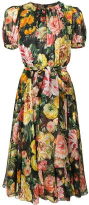 Dolce & Gabbana floral flared dress