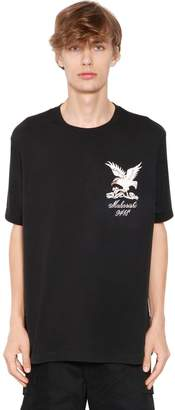 MHI Eagle Embroidered Cotton Jersey T-Shirt