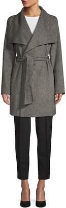 Tahari Women's Ella Double-Faced Wrap Coat