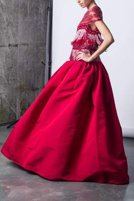 Naeem Khan Exotic Red Gown